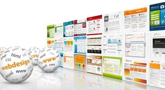 simple Webdesign-Grafik